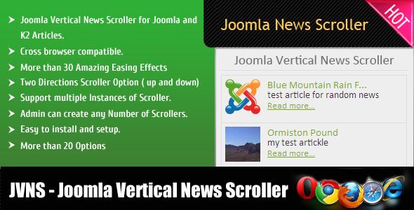 Joomla News Scroller