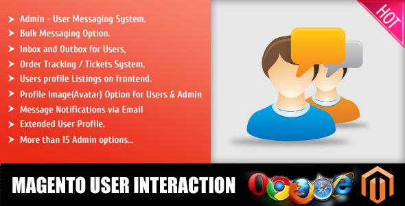 magento user interacion