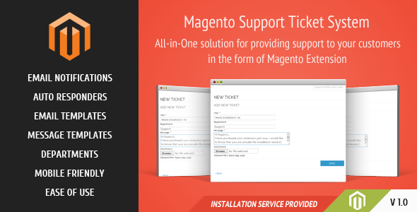 Magento Support Ticket System